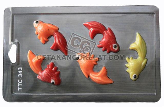 cetakan coklat cokelat hewan ikan mas TTC343