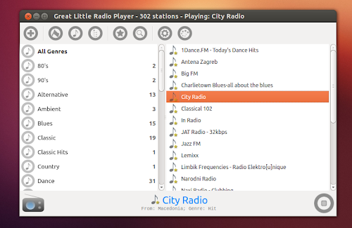 Great Little Radio Player su Ubuntu