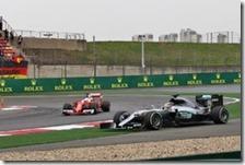 Hamilton e Vettel nel gran premio di Cina