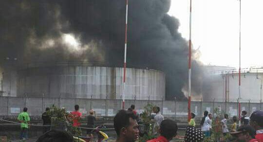 Kebakaran pertamina plumpang jakarta utara