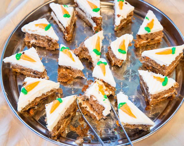 photo of slices of carrot cake