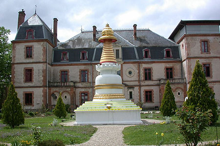 Kadampa Stupa at Institut Vajra Yogini, France.