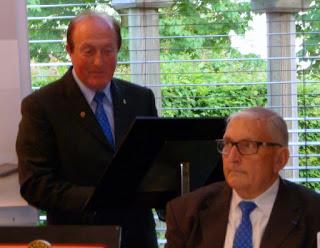 Gérard Vernières remercie Guy Malaquin et donne les objectifs de sa présidence