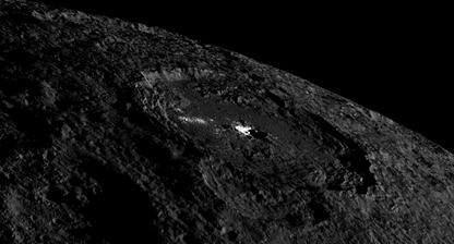 cúpula criovulcânica na Cratera Occator