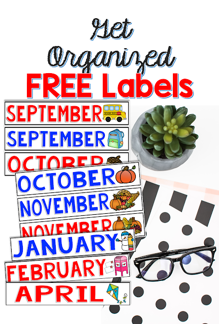 monthly organization labels FREE