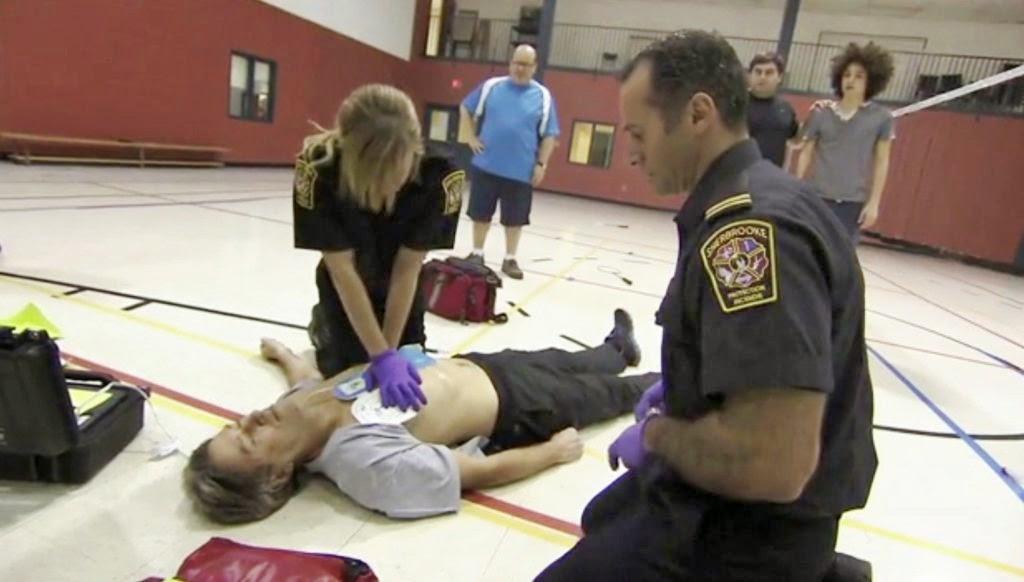20 ans du Service Premier Répondant des Pompiers de Sherbrooke / Image extrait du vidéo Héro en 30