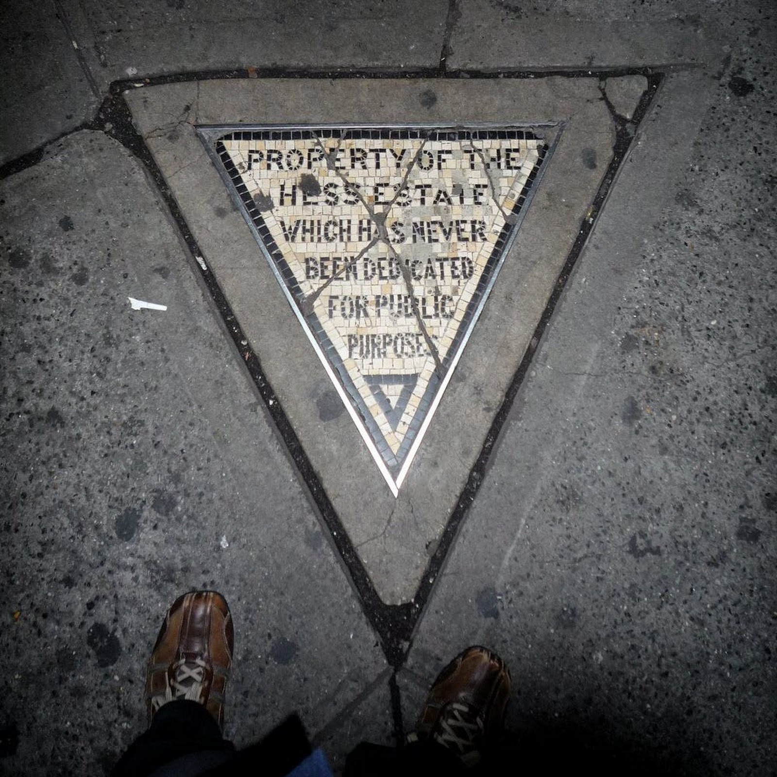 Hess Triangle: The Smallest Piece of Private Property in New York City