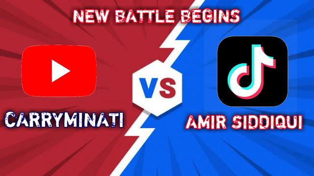 Tiktok vs YouTube   YouTube vs Tiktok   CARRYMINATI vs AMIR SIDDIQUI, tiktok ban in india, tiktok vs youtube,