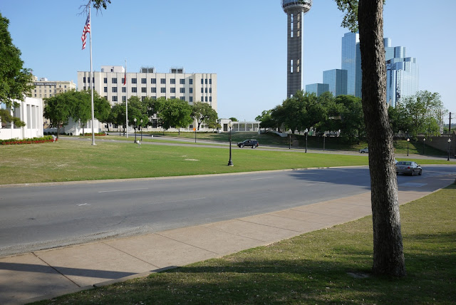Elm Street at Dealey Plaza in Dallas, Texas