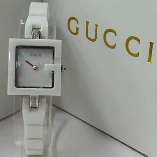 Gucci G kramik warna silver