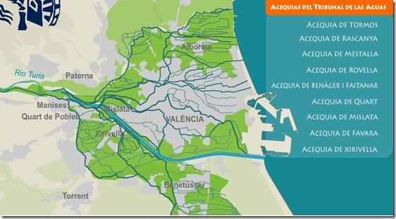 Mapa de acequias