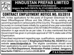 HPL Employment Notice 2018 indgovtjobs