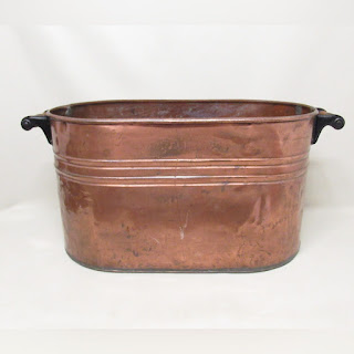 Copper Two-Handled Basin