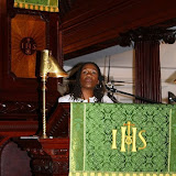 Sherrilyn Ifill, President of the NAACP Legal Defense and Educational Fund Inc., gives the group her insight on Judge Waring and Judge Thurgood Marshall.