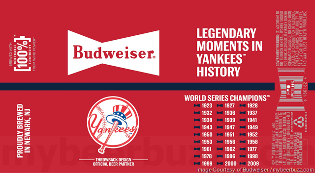 Budweiser Adding Baseball Throwback Design Cans