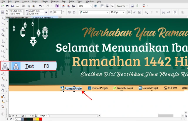 Download Background Spanduk Ramadhan CDR CorelDraw Gratis