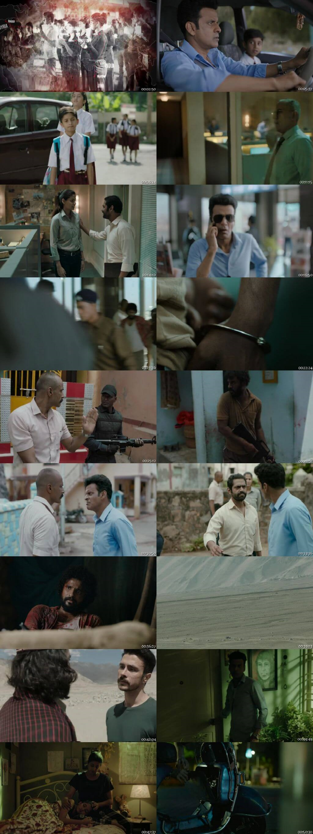 Screenshots Of Hindi Show The Family Man Season 01 2019 Complete - All Episodes 300MB 720P HD