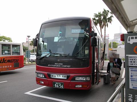 JR九州バス「パシフィックライナー」 8656 宮崎駅到着