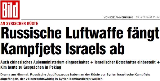 Russische Luftwaffe fängt Kampfjets Israels ab