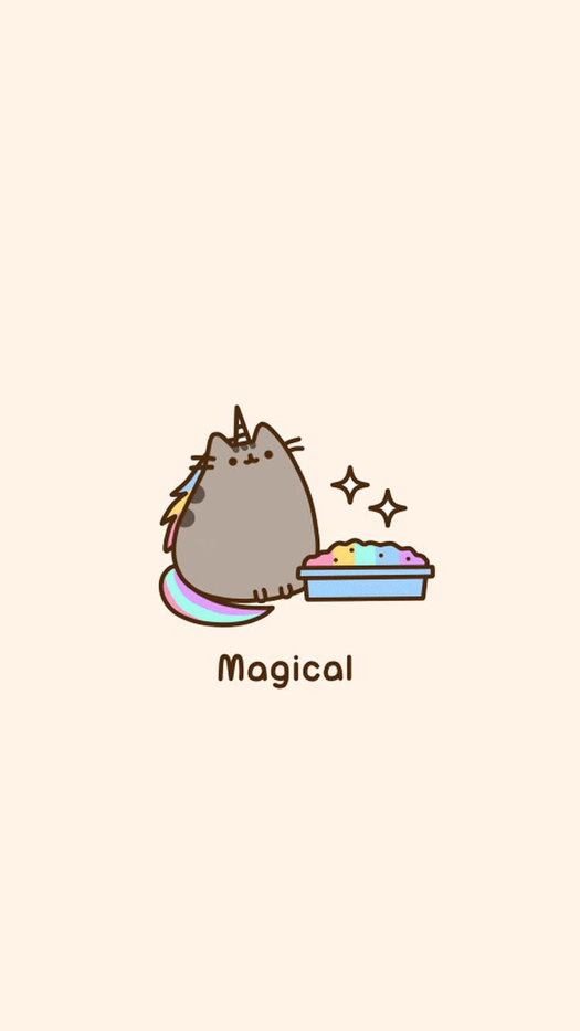 Cute Unicorn Cat Smartphone Wallpaper