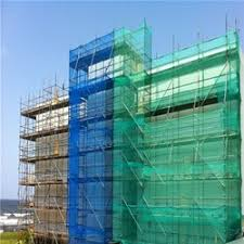 Green Cloth covering Construction Building