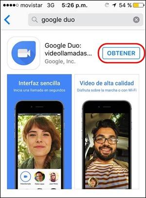Abrir mi cuenta Google Duo - 561