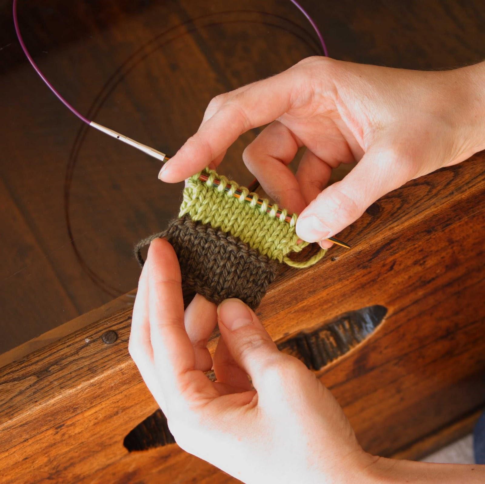 Tanpopo pour commencer - Changer de couleur tricot ...