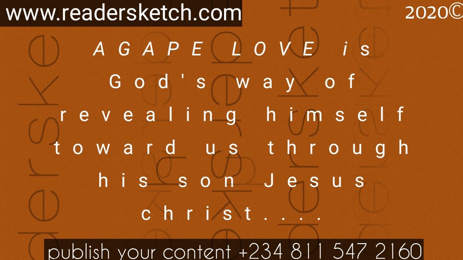 Agape love, Readersketch, lucky, #agapelove, religion, Christ, Christianity, love, #love, how to love?