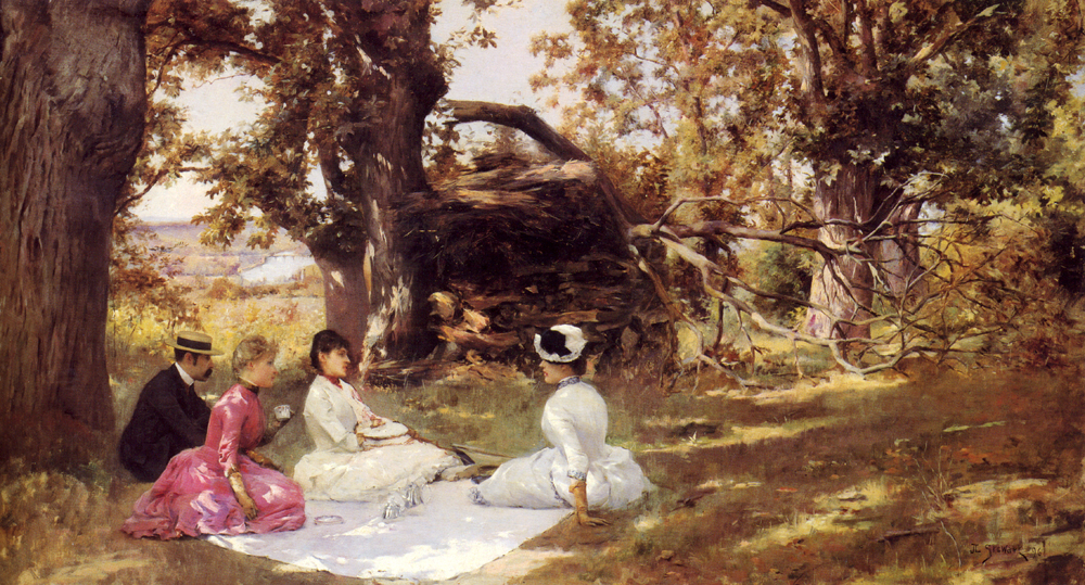 Julius LeBlanc Stewart - Picnic Under The Trees