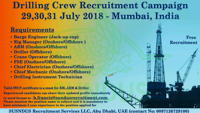 Oil and Gas Jobs: Drilling Crew Recruitment Campaign