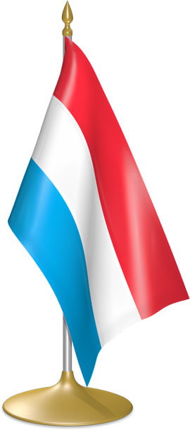 Luxembourgish table flags - desk flags