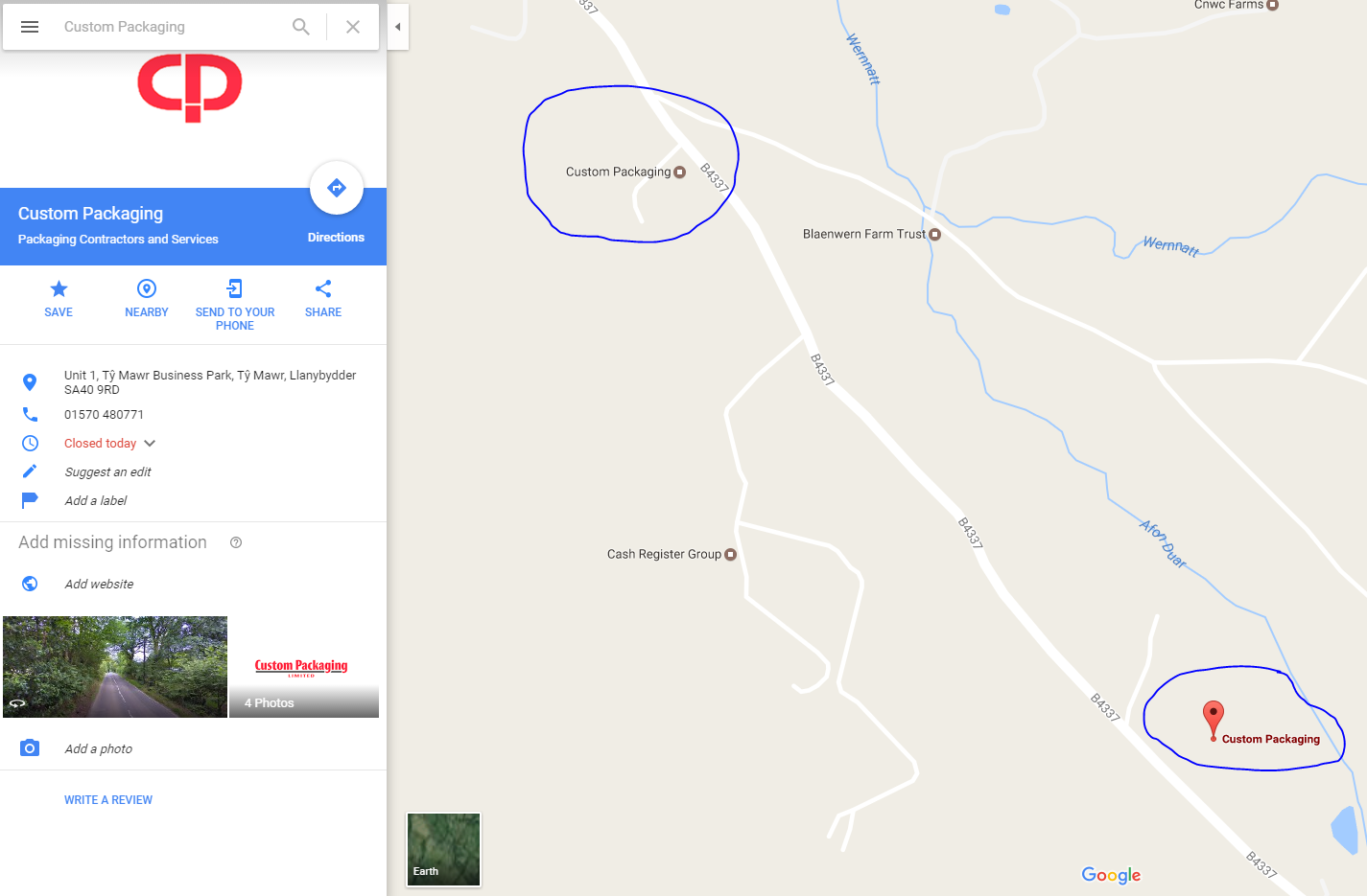 how to add a business marker to google maps