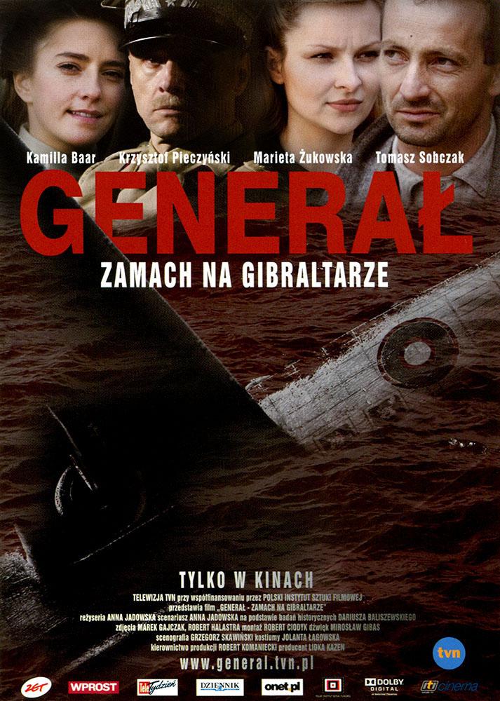Ulotka filmu 'Generał. Zamach Na Gibraltarze (przód)'