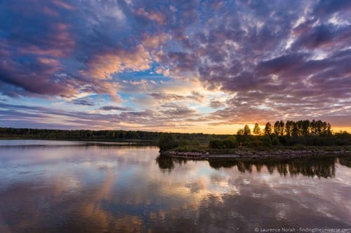 Russia river cruise sunset