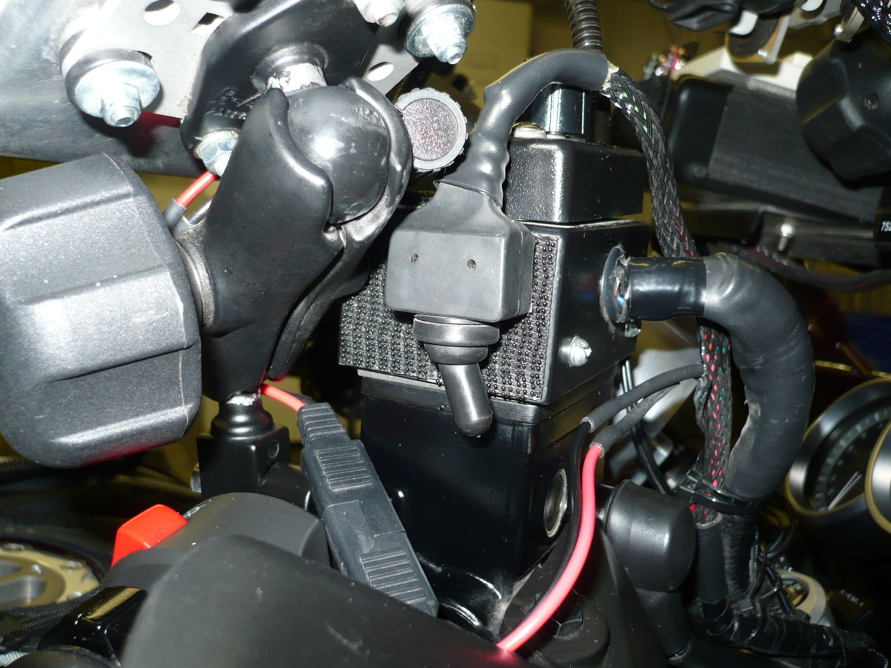 Visor Viewpoint Tales Of Long Distance Motorcycle Touring How To Spare Electric Fuel Pump Along With My Hose Location Switch Turn And Solenoid Valve On Off The Is Attached Side A Control Box Top Front Brake Master