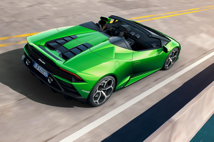 The most powerful version of the Huracan is now available in both fixed-roof and drop-top designs. Picture: SUPPLIED