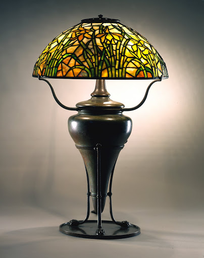 Daffodil design reading lamp, c. 1900, from Tiffany Studios.