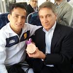 O medalhista olímpico da Sogipa nos Jogos Olímpicos de Londres Felipe Kitadai