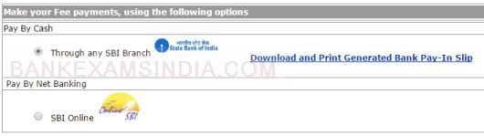 ssc cgl online application part II fees 2