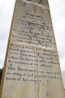 St Matthew's Church burial ground holds the grave of Colonial Chaplain Robert Knopwood, the first chaplain in Van Diemen's Land,