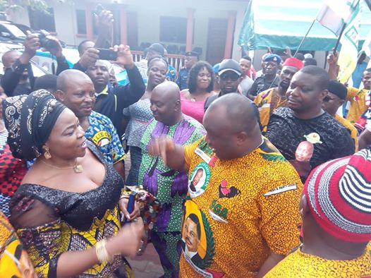 Nikky Ugochukwu Welcomes Ifeanyi Uba in Umunze