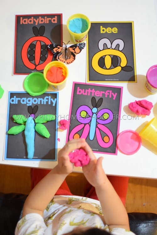 Bugs Playdough Picture Mats