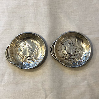 Sterling Silver Art Nouveau Small Dish Set