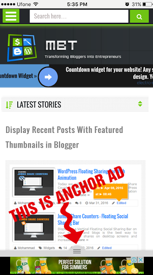 adsense page-level ads in blogger sites