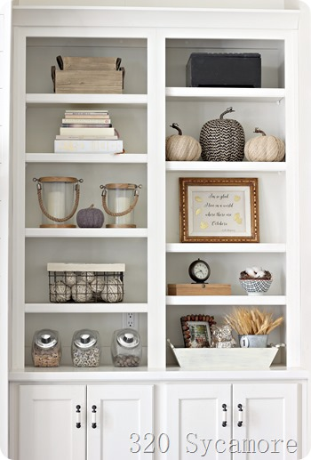 fall shelf bookcases