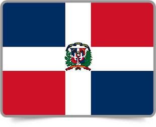 Dominican framed flag icons with box shadow