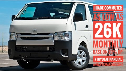 PROMO! Hiace Commuter as low as 26k Monthly base 20% DP under Toyota Financial!