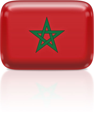 Moroccan flag clipart rectangular