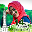 Pak Flag Face Sticker- Jashne Azadi icon