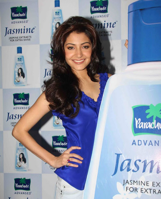 anushka sharma launches parachute jasmine hair oil latest photos